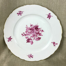 Vintage Porcelain Cabinet Plate Dresden Spray Pink & White China