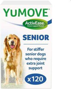 YuMOVE SENIOR JOINT SUPPLEMENT FOR STIFF SENIOR DOGS 120 Tablets NEW