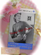 Vintage Knitting Pattern 1940's Lady's Exquisite Lace Panel Twin Set. 38in Bust.