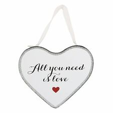 'All You Need Is Love' Mirrored Hanging Message Plaque Valentine, Wedding and An
