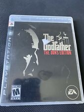 The Godfather -- The Don's Edition (Sony PlayStation 3, 2007) PS3 Video Game