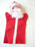 Vintage 1970's Felt Hand Puppet Santa Claus Christmas Handmade