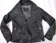 BOD & CHRISTENSEN Leather Hoodie Motorcycle Jacket Black Sz.L NWT WOW!