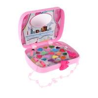 Bella principessa trucco Kit cosmetici Set borsa rosa per bambini Giochi di