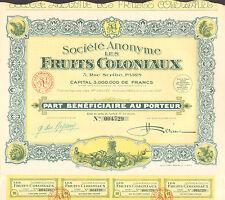 Paris IX ème 3 Rue Scribe - Superbe Fruiterie Importation des Colonies de 1930