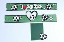 SOCCER Scrapbook Border Scrapbooking Album Creative Game Sports Athletic