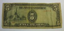 THE JAPANESE GOVERNMENT FIVE PESOS