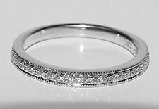 LOVE VERA WANG 14K White Gold Diamond Ring Semi - Eternity Wedding Band Size 6.5