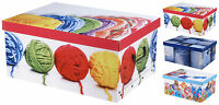 Cardboard Large & Medium Storage Boxes With Lids Jeans Toys & Knitting Toy Box