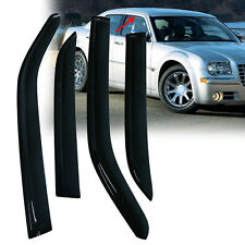 Side Window Visors Rain Guards Deflectors Smoke 4Pc For 05-10 Chrysler 300C New