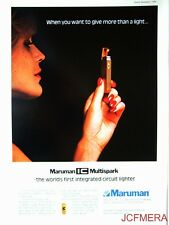 1976 MARUMAN 'Multispark' Cigarette Lighters Advert - Original Print AD