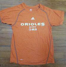 Baltimore Orioles MLB Baseball Adidas Youth Boys Kids T-shirt Size Medium Orange