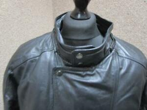"""MENS WILSONS LARGE 48/50""""CHEST LEATHER CAR COAT / REF A16 282"""