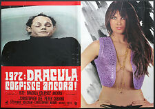 CINEMA-fotobusta 1972: DRACULA COLPISCE ANCORA! cushing
