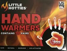 Little Hotties Hand Warmers 8 Hours Pure Heat - 10 Pairs Sealed In Box