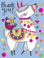 Rachel Ellen Mini Llama Design Thank You Cards Girls Party Note Cards 5 Pack