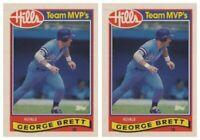 (2) 1989 Topps Hills Team MVP's Baseball #3 George Brett Card Lot Royals