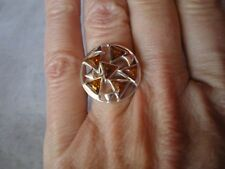 Baltic Cognac Amber ring, Size N/O, set in 4.4 grams of 925 Sterling Silver