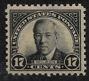 US # 623 (1925) 17c President Wilson - Mint, Hinged - VF