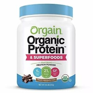 Orgain - Organic Plant Based Protein & Superfoods Powder 1.1LBS Chocolate Fudge
