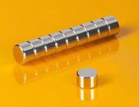 50 Neodym Magnete 8 x 5 mm runde Scheiben N45 8x5mm Supermagnete Hobby Büro