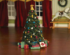 Large Resin Christmas Tree, Dolls House Miniature Xmas Christmas 17.5cm Tall