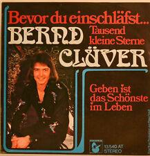 """BERND CLÜVER AVANT DU ALLER SE COUCHER TAUSEND PETITES ÉTOILES Single 7"""" i 757"""