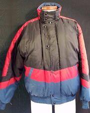 EXC Mens ALPINE SKI Puffer Jacket Nylon Large Winter Red Navy Blue LG Vintage