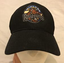 Midland Rockhounds Logo Black Hat Cap Welcome Home Service Master Adjustable