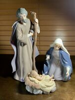 "Large 12"" Porcelain Holy Family Nativity Baby Jesus Grandeur Noel Collector 2002"