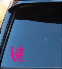 Love & Fleur De Lis Window Sticker decal Horse Truck Car Sticker Decal