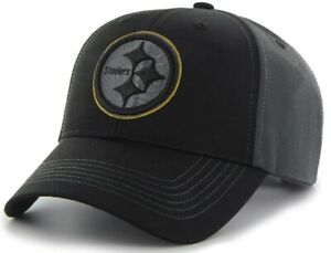 Pittsburgh Steelers NFL Team Apparel Black Blackball Tonal Hat Cap Adjustable
