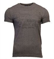 Superdry Mens New Shirt Shop Embossed Short Sleeve Crew Neck T-Shirt Grey