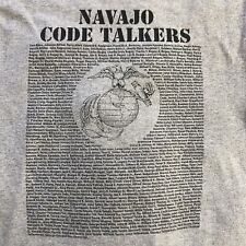 Navajo Code Talkers Assn T-Shirt US Marine Corp USMC WWII Alstyle Large