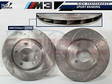 for BMW E36 M3 3.0 3.2 EVO FRONT REAR DIMPLED AND GROOVED BRAKE DISC DISCS