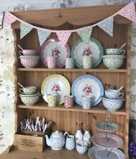 Pretty Provence Floral Rose Pink Blue Mini Bunting Shabby Chic Dresser 1m💗