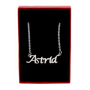 ASTRID Name Necklace Silver Tone | Christmas Jewellery Gifts For Her