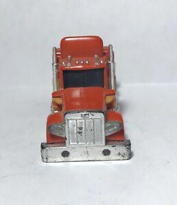 HTF Aurora AFX Lighted Peterbilt Semi Truck in Red/Orange & Yellow - Body Only!