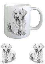 Labrador Retriever Dog Sketch Ceramic Mug by Paws 2 Print