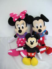 "MICKEY & MINNIE MOUSE 2015 JUMBO LARGE PLUSH TOYS 22"" & SINGING TALKING HOT DOG"