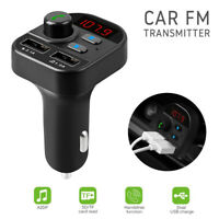 Bluetooth FM Transmitter Auto MP3 Player Dual USB Charger Freisprechanlage TF SD