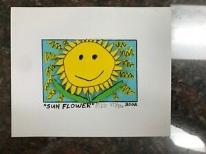 """James Rizzi 3-D Artwork """" Sun Flower """" Signed & Numbered Limited Edition 2002"""