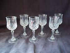 "Vintage Crystal Cordial/Apertif/Liqueur Goblet/Glass 6-pc Set 4 5/8"" Tall"
