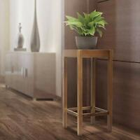 Wooden Tall Plant Stand Pot Holder Small Space Table