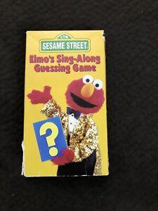 VHS Tape Sesame Street Elmo's Sing-Along Guessing Game 90's Sony Wonder