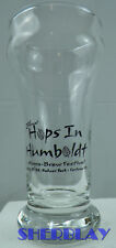 """HOPS IN HUMBOLDT Micro Brew Festival Beer Fest 2nd Annua Small Brewery Glass 5"""""""