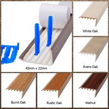 Wood Laminate Stair Edge Nosing, Engineered Upvc Trim Edging 45 x 22mm x 900mm