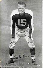 RARE STEVE VAN BUREN 1948-49 CHAMPIONS EXHIBIT CARD~FOOTBALL HALL OF FAME~HOF