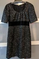 Tahari Arthur S. Levine Black and White Wool Dress - Size 8