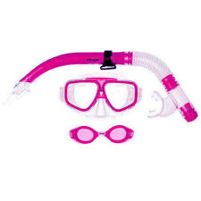 NOMAD JUNIOR KIDS (PINK) Goggle Mask & Snorkel Snorkeling Swimming DIVING SET
